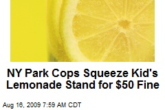 NY Park Cops Squeeze Kid's Lemonade Stand for $50 Fine
