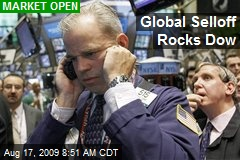 Global Selloff Rocks Dow