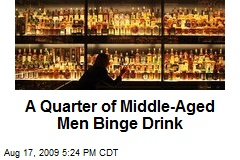 A Quarter of Middle-Aged Men Binge Drink