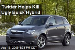 Twitter Helps Kill Ugly Buick Hybrid