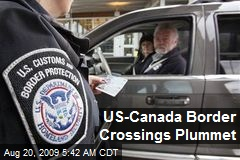 US-Canada Border Crossings Plummet