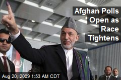 Afghan Polls Open as Race Tightens