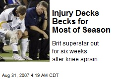Injury Decks Becks for Most of Season