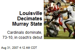 Louisville Decimates Murray State