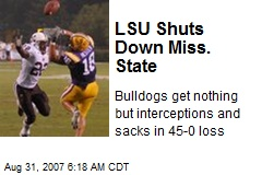 LSU Shuts Down Miss. State