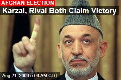 Karzai, Rival Both Claim Victory