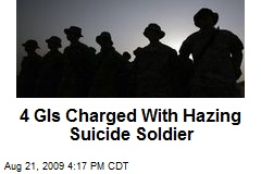 4 GIs Charged With Hazing Suicide Soldier