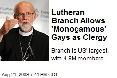 Lutheran Branch Allows 'Monogamous' Gays as Clergy
