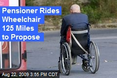 Pensioner Rides Wheelchair 125 Miles to Propose
