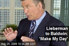 Lieberman to Baldwin: 'Make My Day'