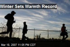 Winter Sets Warmth Record