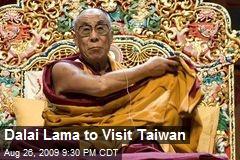 Dalai Lama to Visit Taiwan