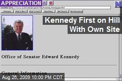 Kennedy First on Hill With Own Site
