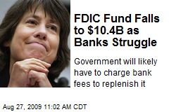 FDIC Fund Falls to $10.4B as Banks Struggle