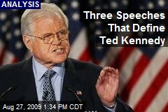 Three Speeches That Define Ted Kennedy