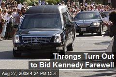 Throngs Turn Out to Bid Kennedy Farewell