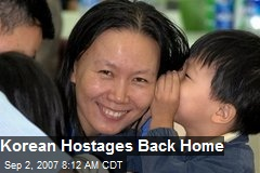 Korean Hostages Back Home