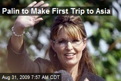 Palin to Make First Trip to Asia