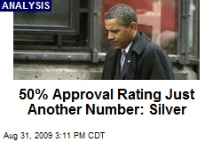 50% Approval Rating Just Another Number: Silver