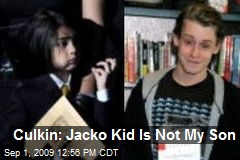 Culkin: Jacko Kid Is Not My Son