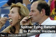 Spitzer Eying Return to Politics: Insiders