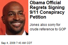 Obama Official Regrets Signing 9/11 Conspiracy Petition
