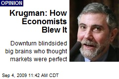 Krugman: How Economists Blew It