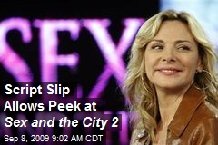 Script Slip Allows Peek at Sex and the City 2