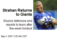 Strahan Returns to Giants
