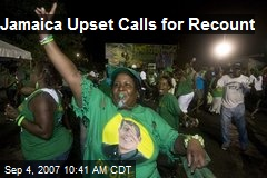 Jamaica Upset Calls for Recount