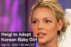 Heigl to Adopt Korean Baby Girl