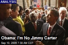 Obama: I'm No Jimmy Carter