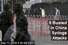 9 Busted in China Syringe Attacks