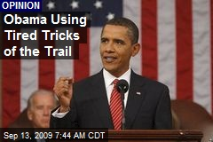 Obama Using Tired Tricks of the Trail