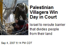 Palestinian Villagers Win Day in Court
