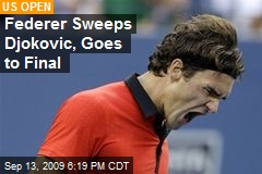 Federer Sweeps Djokovic, Goes to Final