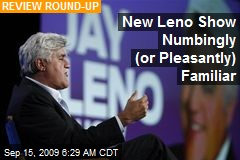 New Leno Show Numbingly (or Pleasantly) Familiar