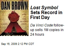 Lost Symbol Sets Record in First Day