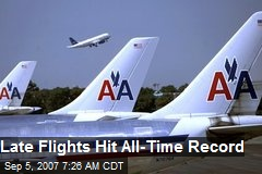 Late Flights Hit All-Time Record