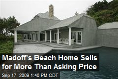 Madoff's Beach Home Sells for More Than Asking Price