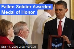Fallen Soldier Awarded Medal of Honor