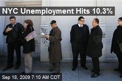 NYC Unemployment Hits 10.3%