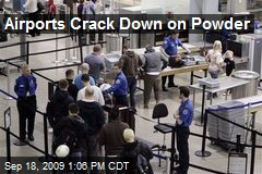 Airports Crack Down on Powder
