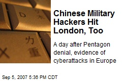 Chinese Military Hackers Hit London, Too