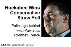 Huckabee Wins Conservative Straw Poll