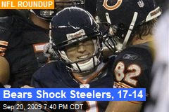 Bears Shock Steelers, 17-14