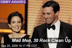 Mad Men, 30 Rock Clean Up