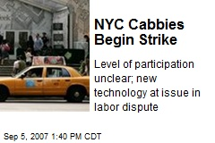 NYC Cabbies Begin Strike