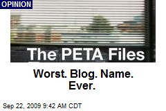 Worst. Blog. Name. Ever.