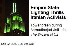 Empire State Lighting Thrills Iranian Activists